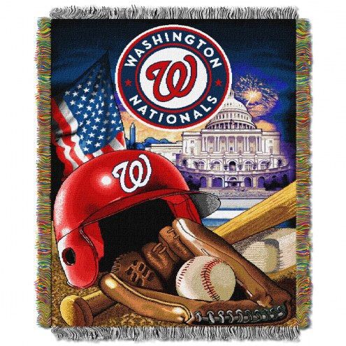 Washington Nationals MLB Woven Tapestry Throw Blanket