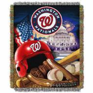 Washington Nationals MLB Woven Tapestry Throw Blanket