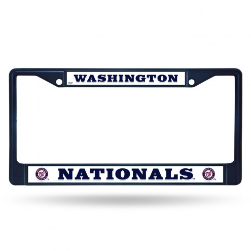 Washington Nationals Navy Colored Chrome License Plate Frame