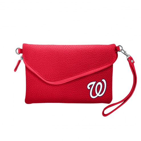 Washington Nationals Pebble Fold Over Purse