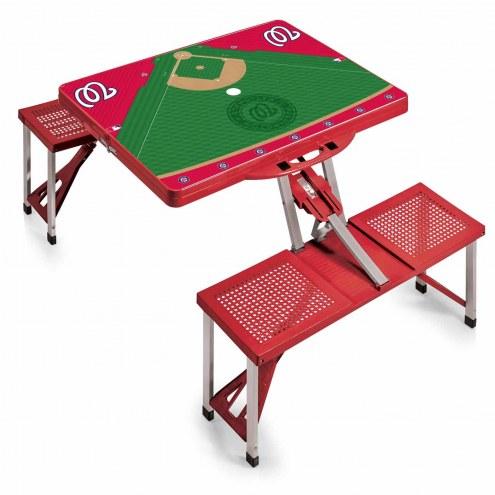 Washington Nationals Red Folding Picnic Table