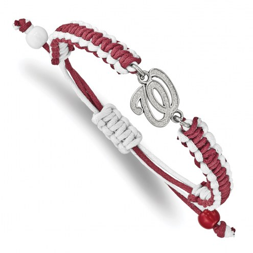 Washington Nationals Stainless Steel Adjustable Cord Bracelet
