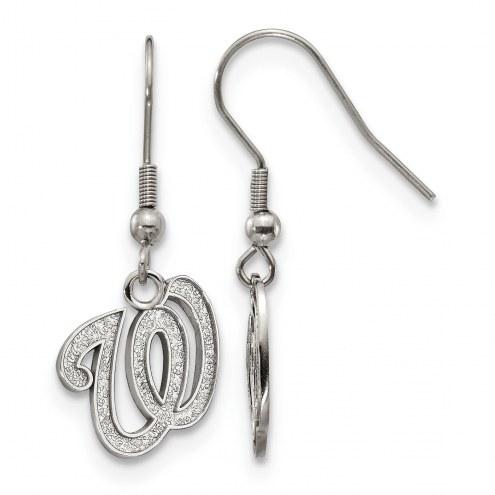 Washington Nationals Stainless Steel Dangle Earrings