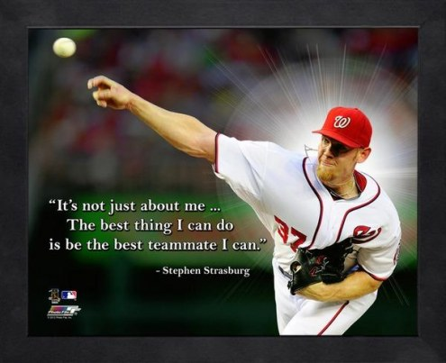 Washington Nationals Stephen Strasburg Framed Pro Quote