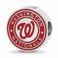 Washington Nationals Sterling Silver Enameled Bead