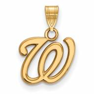 Washington Nationals Sterling Silver Gold Plated Small Pendant