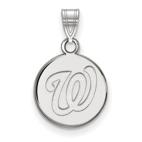 Washington Nationals Sterling Silver Small Disc Pendant