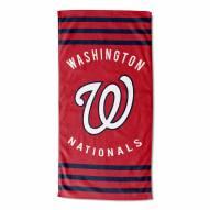 Washington Nationals Stripes Beach Towel