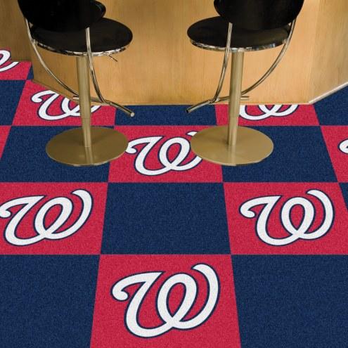 Washington Nationals Team Carpet Tiles