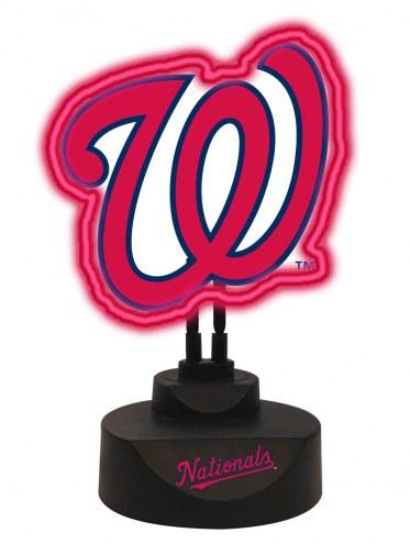 Washington Nationals Team Logo Neon Light
