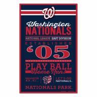 Washington Nationals Established Wood Sign