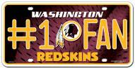 Washington Redskins #1 Fan License Plate