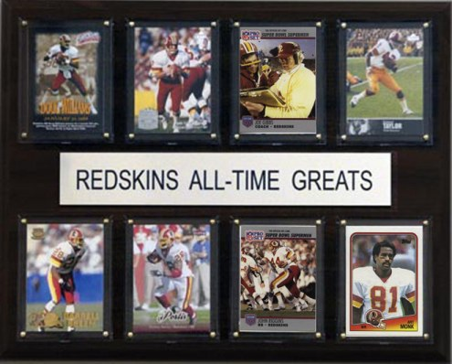 """Washington Redskins 12"""" x 15"""" All-Time Greats Plaque"""