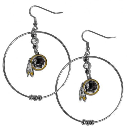 """Washington Redskins 2"""" Hoop Earrings"""