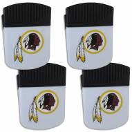 Washington Redskins 4 Pack Chip Clip Magnet with Bottle Opener