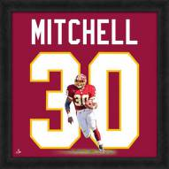 Washington Redskins Brian Mitchell Uniframe Framed Jersey Photo