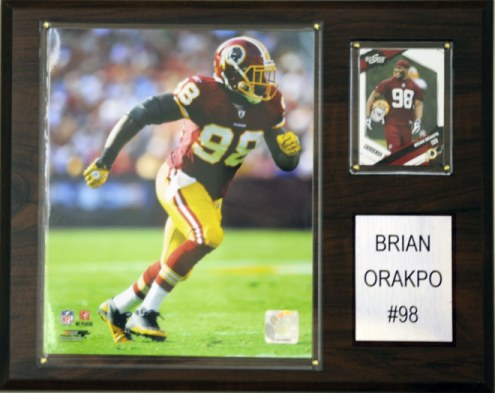 "Washington Redskins Brian Orakpo 12 x 15"" Player Plaque"