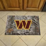 Washington Redskins Camo Scraper Door Mat