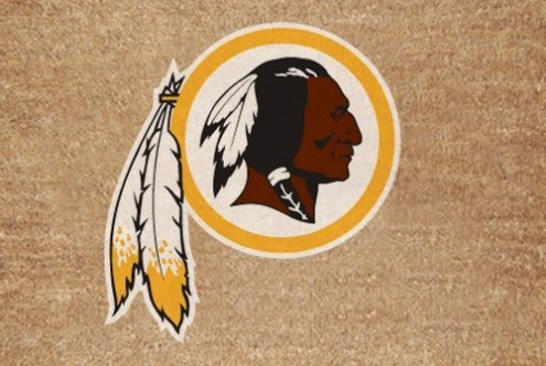 Washington Redskins Colored Logo Door Mat