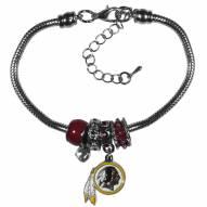 Washington Redskins Euro Bead Bracelet