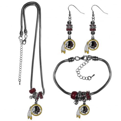 Washington Redskins Euro Bead Jewelry 3 Piece Set