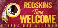 Washington Redskins Fans Welcome Wood Sign