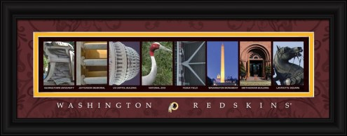 Washington Redskins Framed Letter Art