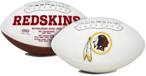 Washington Redskins Full Size Embroidered Signature Series Football