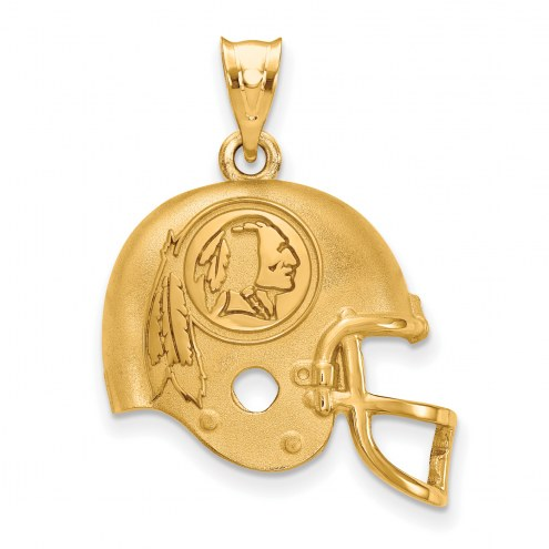 Washington Redskins Gold Plated Helmet Pendant