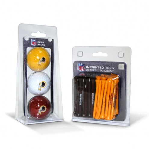 Washington Redskins Golf Ball & Tee Pack