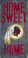 Washington Redskins Home Sweet Home Wood Sign