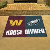 Washington Redskins/Philadelphia Eagles House Divided Mat