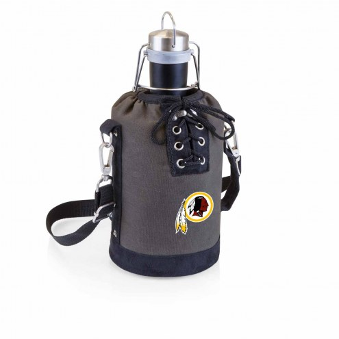 Washington Redskins Insulated Growler Tote with 64 oz. Stainless Steel Growler