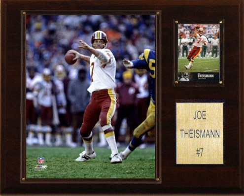 "Washington Redskins Joe Theisman 12 x 15"" Player Plaque"