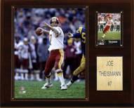 "Washington Redskins Joe Theisman 12 x 15"" Player Plaque"