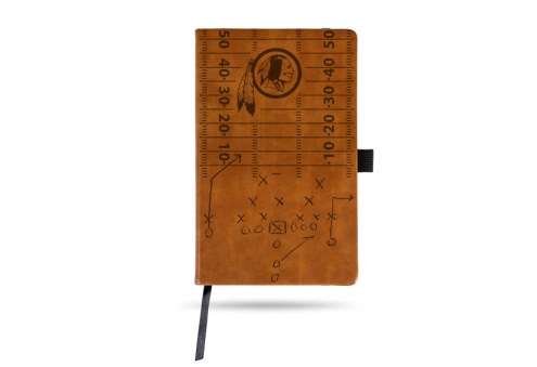 Washington Redskins Laser Engraved Brown Notepad