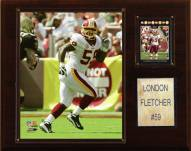 "Washington Redskins London Fletcher 12 x 15"" Player Plaque"