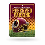 Washington Redskins Metal Parking Sign