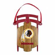 Washington Redskins Metal Sled Tree Ornament