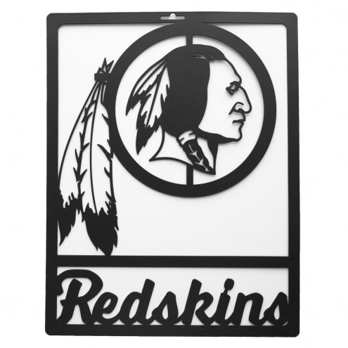 Washington Redskins Metal Team Sign