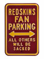 Washington Redskins NFL Authentic Parking Sign