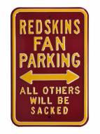 Washington Redskins NFL Authentic Parking Sign