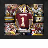 Washington Redskins Personalized 11 x 14 Framed Action Collage