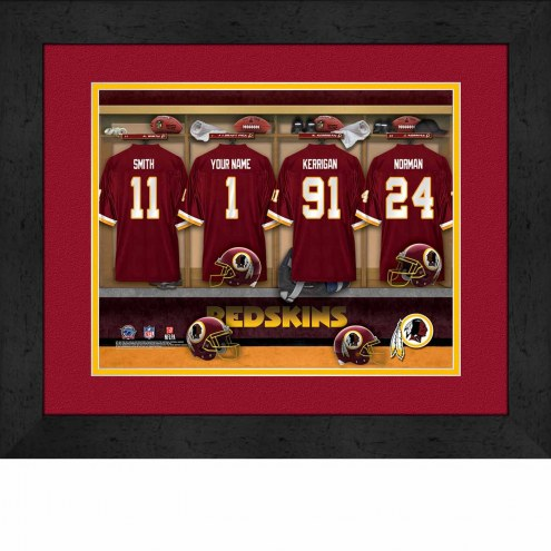 Washington Redskins Personalized Locker Room 13 x 16 Framed Photograph