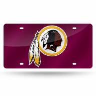 Washington Redskins Laser Cut License Plate