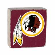 Washington Redskins Rustic Block