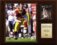 "Washington Redskins Santana Moss 12 x 15"" Player Plaque"