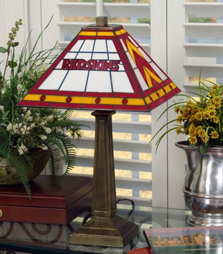 Washington Redskins Stained Glass Mission Table Lamp