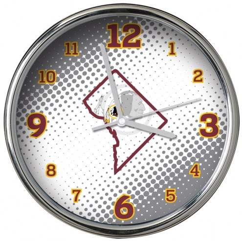 Washington Redskins State of Mind Chrome Clock