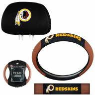 Washington Redskins Steering Wheel & Headrest Cover Set